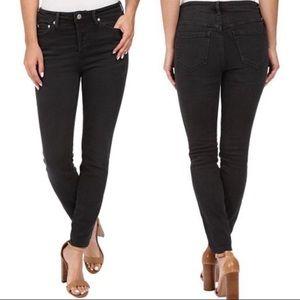 Free People Black Peyton High Rise Skinny Jeans 28
